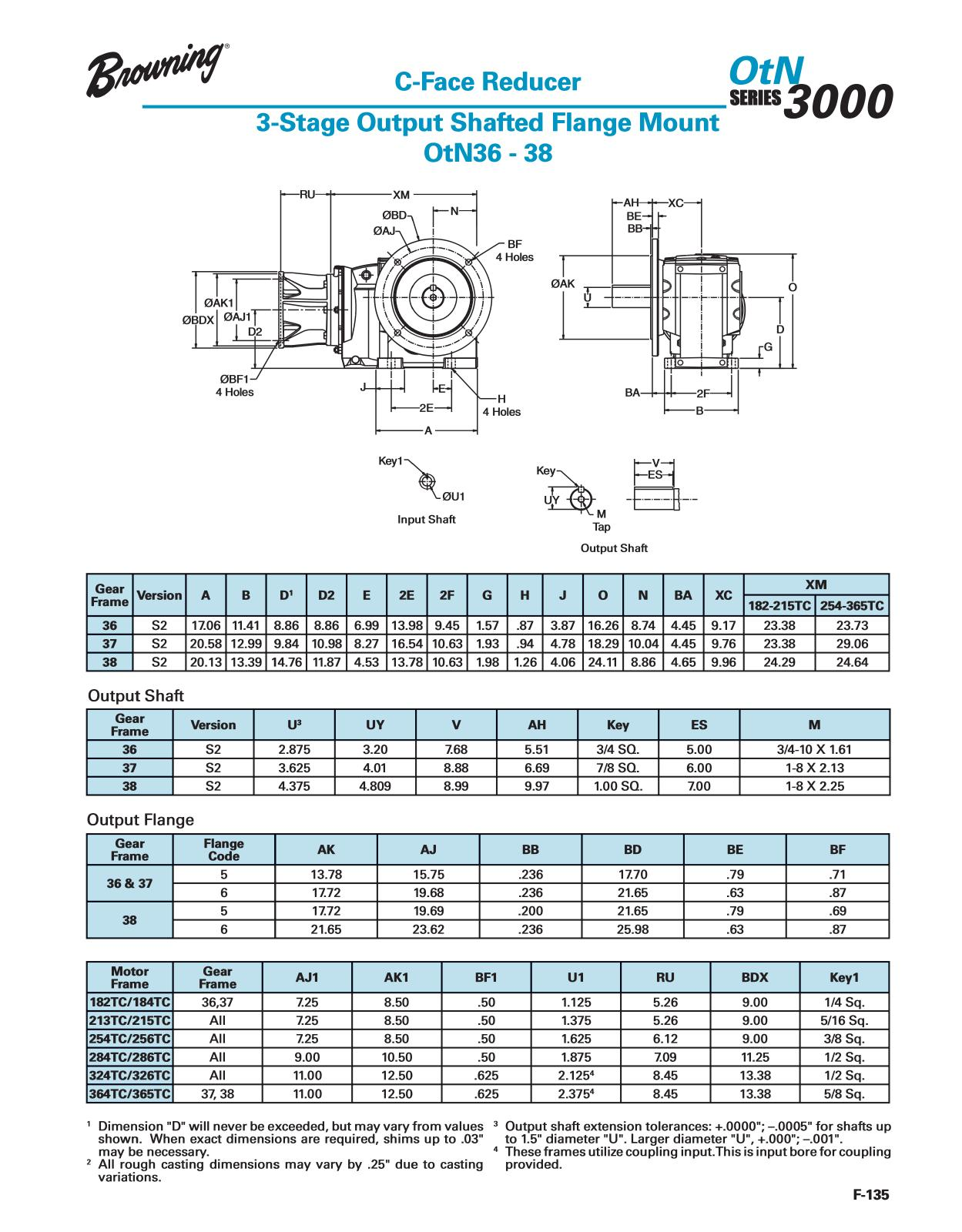 Otn Series Gearing Catalog Page F 136 Kc 135 Engineering Schematics Table Of Contents